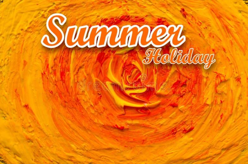 Fondo de las vacaciones de verano con el texto Sol de la pintura del movimiento imagen de archivo libre de regalías