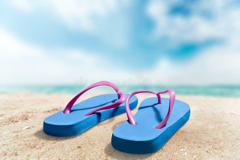 Fondo de las vacaciones de verano con un par de tirón fotografía de archivo