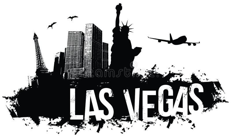 Fondo de Las Vegas stock de ilustración