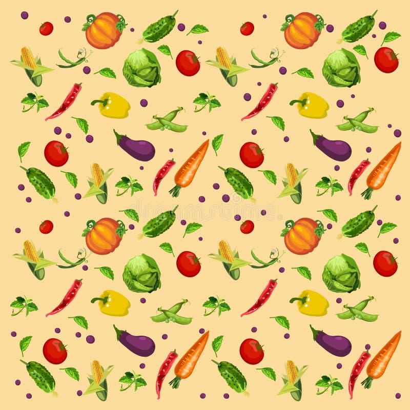 Fondo de las verduras, clasificado libre illustration
