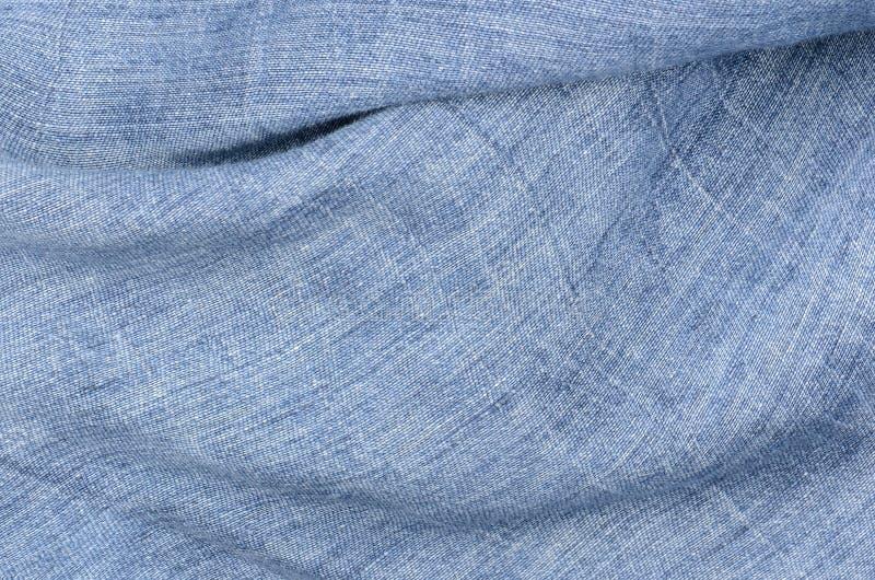Fondo de lino azul de la textura foto de archivo libre de regalías