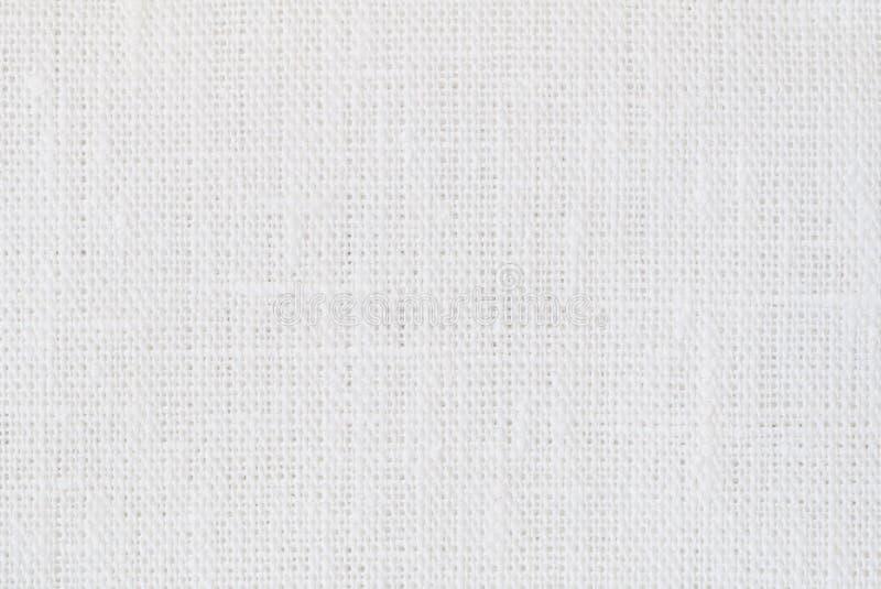Fondo de lino blanco de la textura