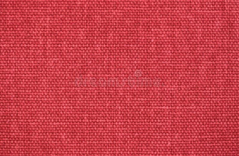 Fondo De Lino Rojo De La Textura De La Tela Imagen De