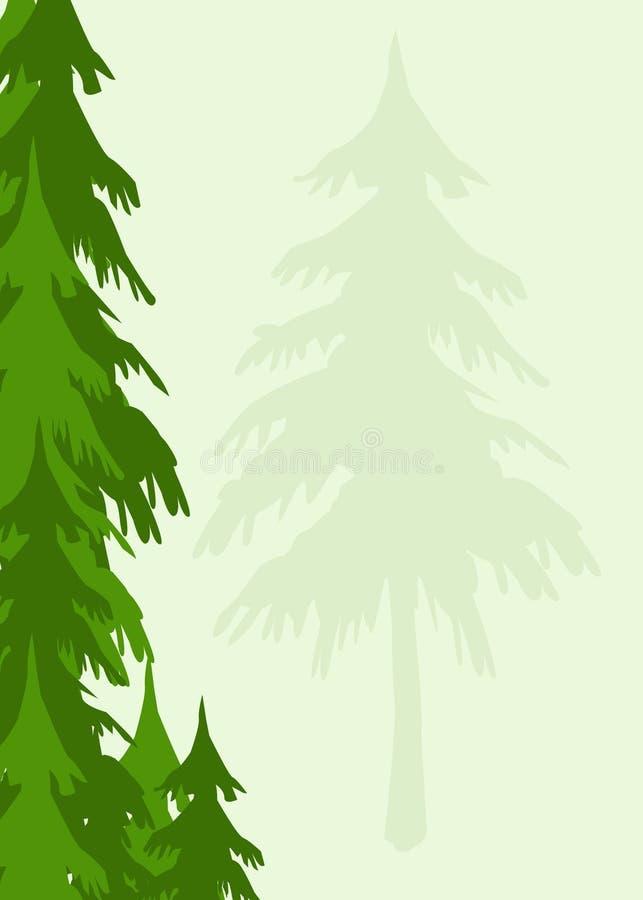 Fondo de los árboles libre illustration