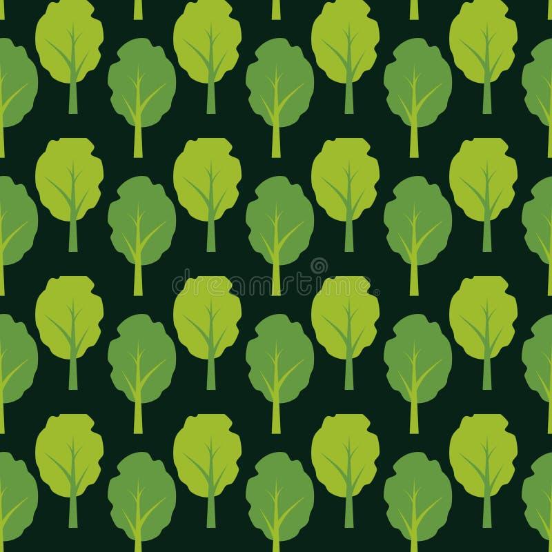 Fondo de los árboles stock de ilustración