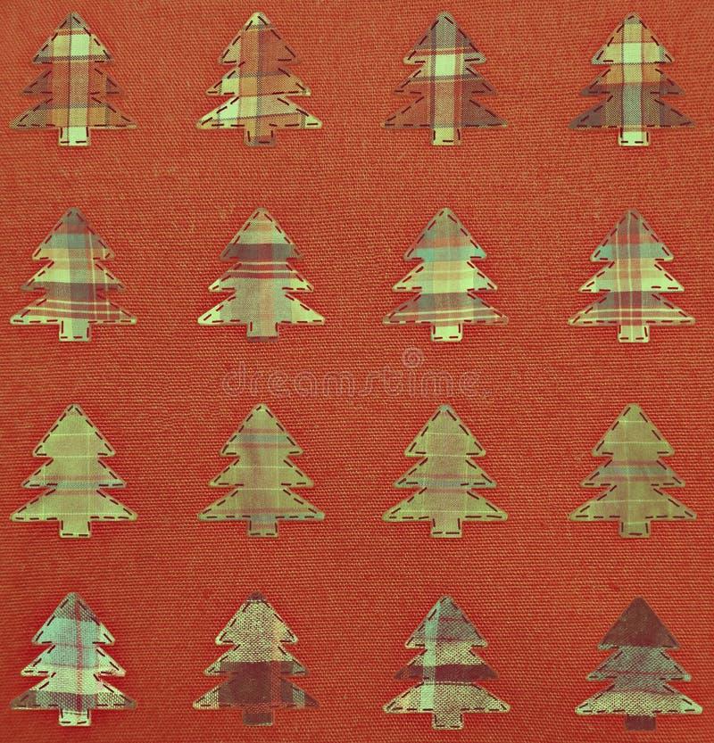 Fondo de los árboles de navidad de la tela ilustración del vector