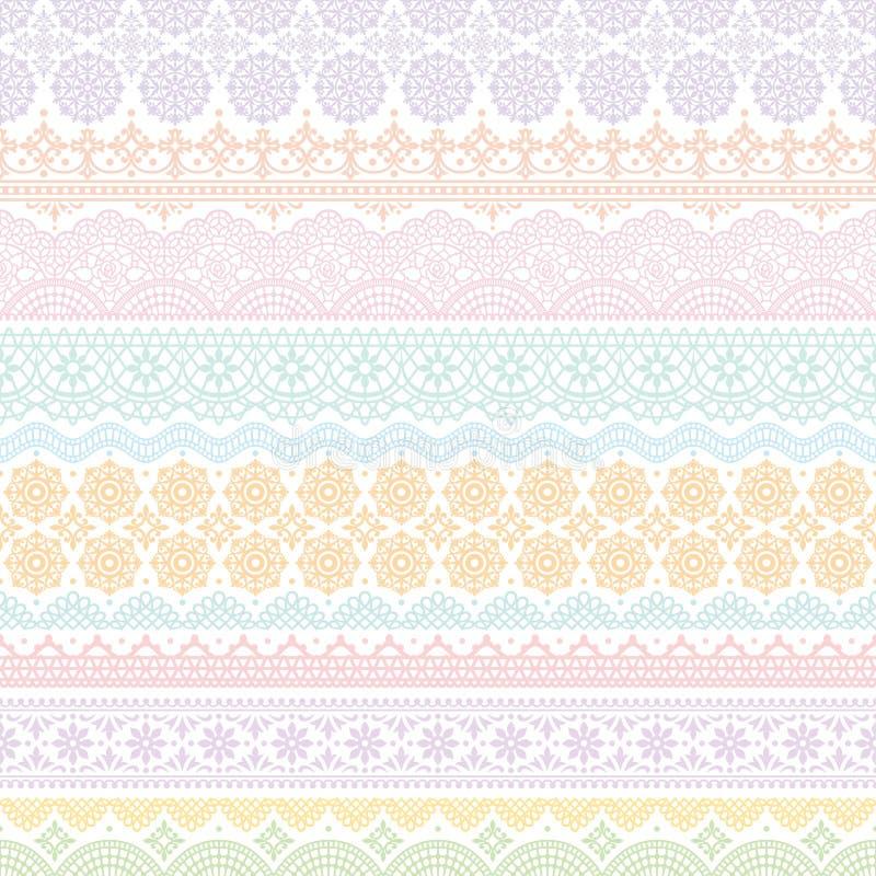 Fondo de los ajustes coloridos del cordón ilustración del vector