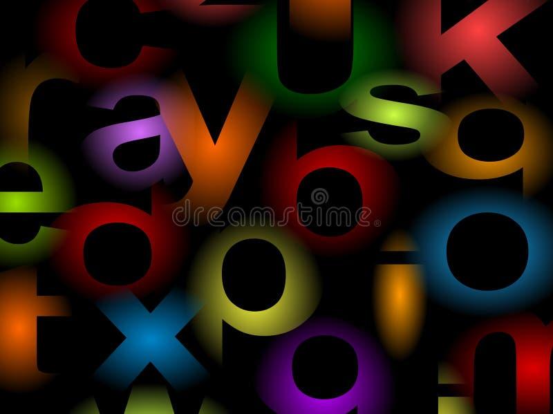 Fondo de los alfabetos stock de ilustración
