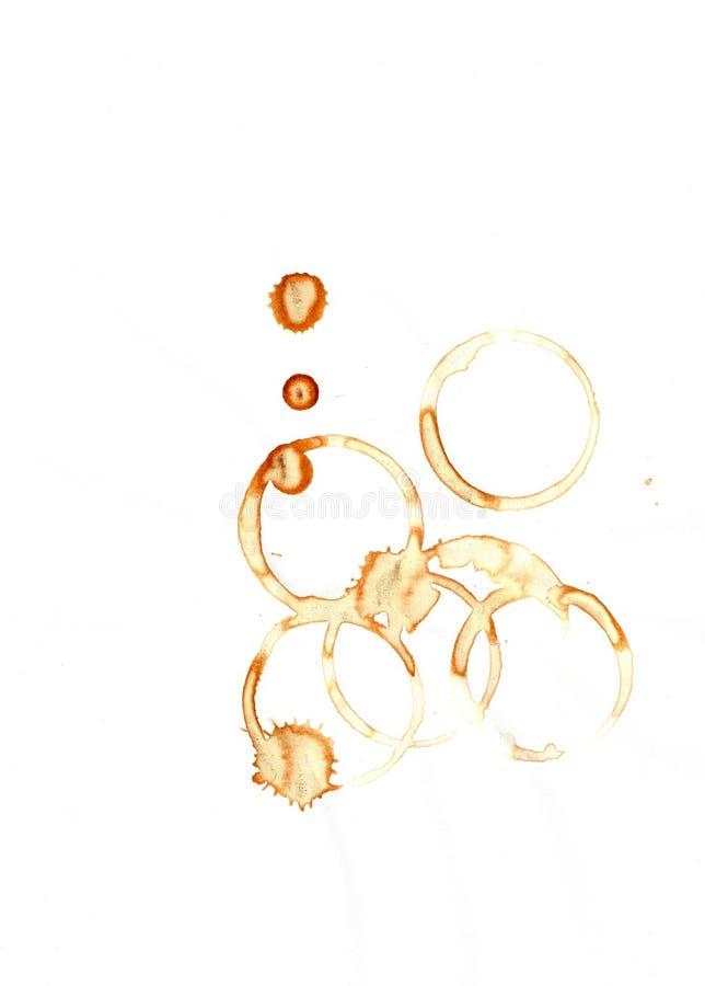 Fondo de los anillos de café. fotos de archivo libres de regalías