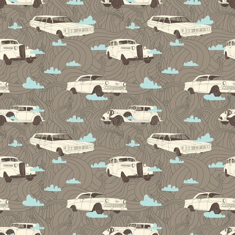Fondo de los coches ilustración del vector