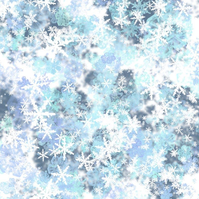 Fondo de los copos de nieve ilustración del vector