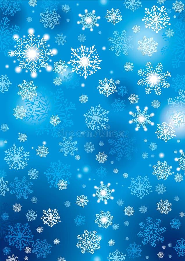 Fondo de los copos de nieve fotos de archivo libres de regalías