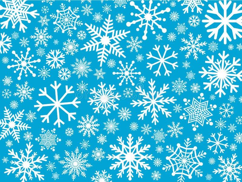 Download Fondo De Los Copos De Nieve Ilustración del Vector - Ilustración de cubo, papel: 42436805