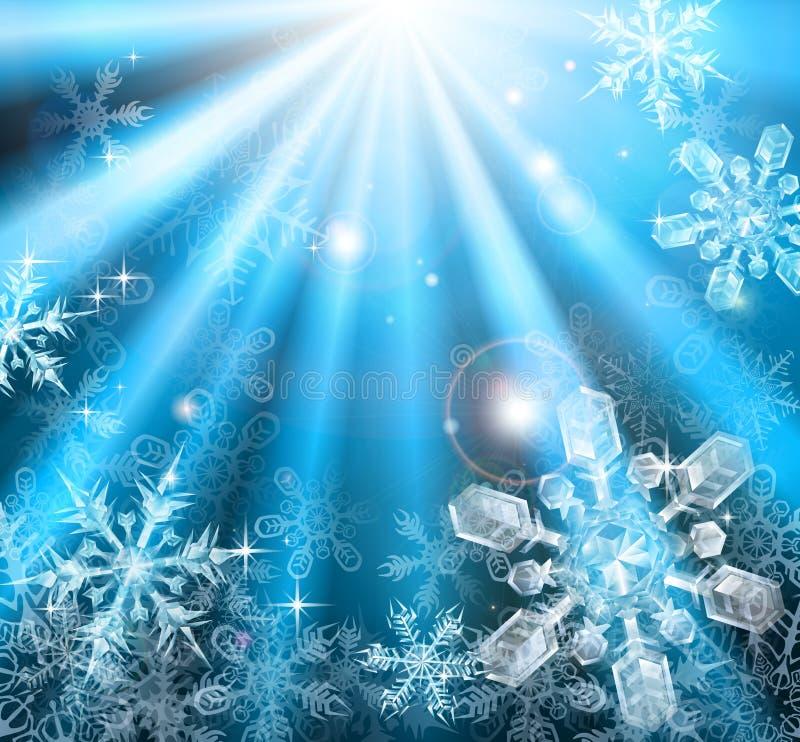 Fondo de los copos de nieve de la Navidad stock de ilustración