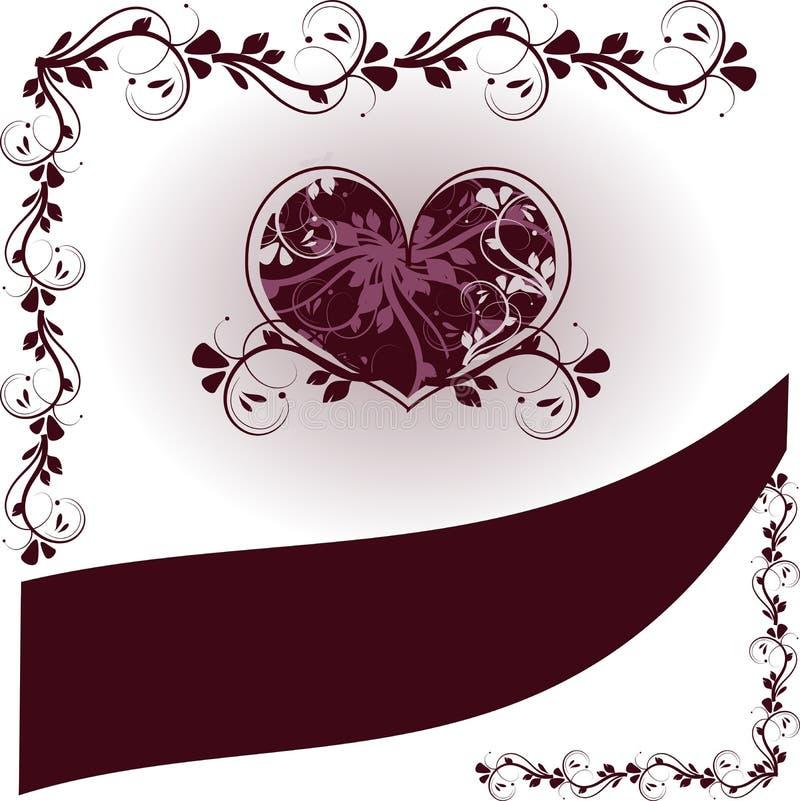 Fondo de los corazones de la boda ilustración del vector