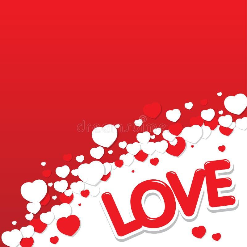 Fondo de los corazones del amor fotos de archivo libres de regalías