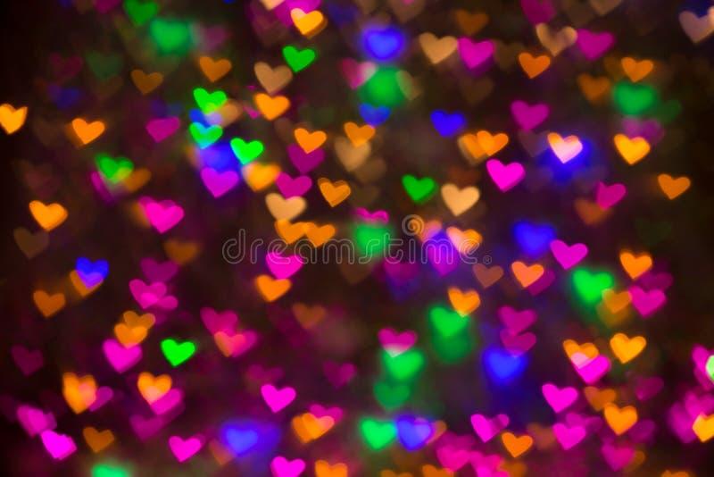 Fondo de los corazones Imagen abstracta en día y amor del ` s de la tarjeta del día de San Valentín foto de archivo libre de regalías
