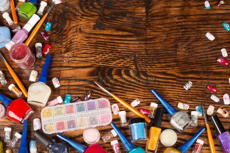 Fondo de los cosméticos fotografía de archivo