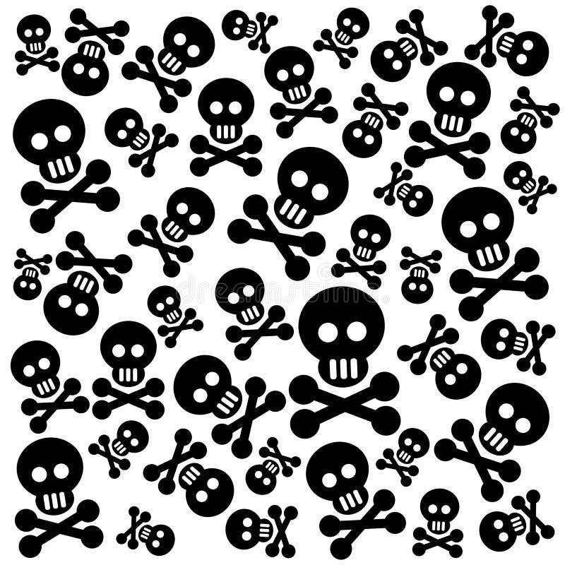 Fondo de los cráneos ilustración del vector
