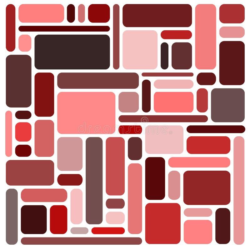 Fondo de los cuadrados rojos stock de ilustración