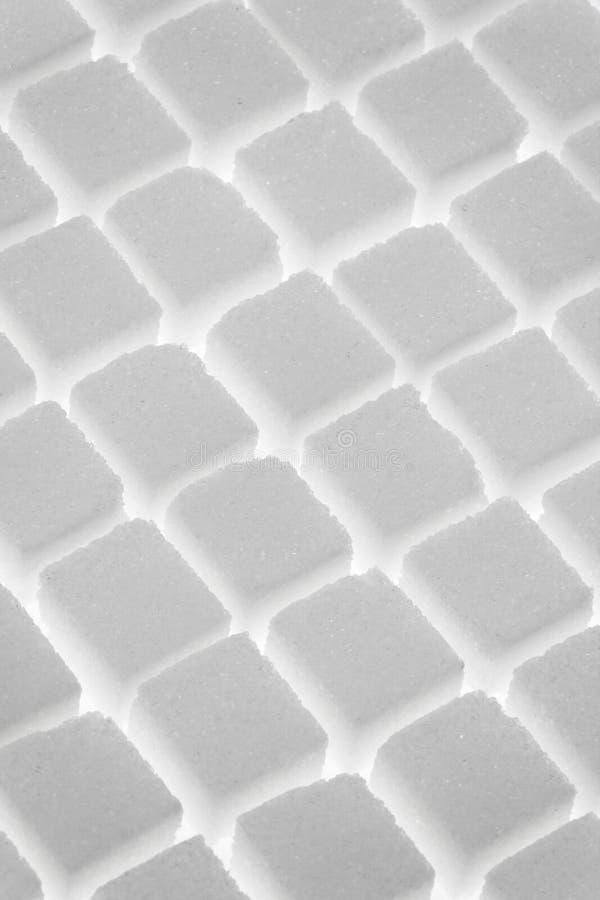 Fondo de los cubos del azúcar fotos de archivo