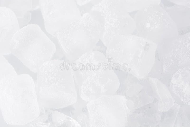 Fondo de los cubos de hielo foto de archivo