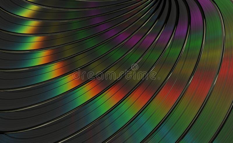 Fondo de los discos de vinilo ilustración del vector