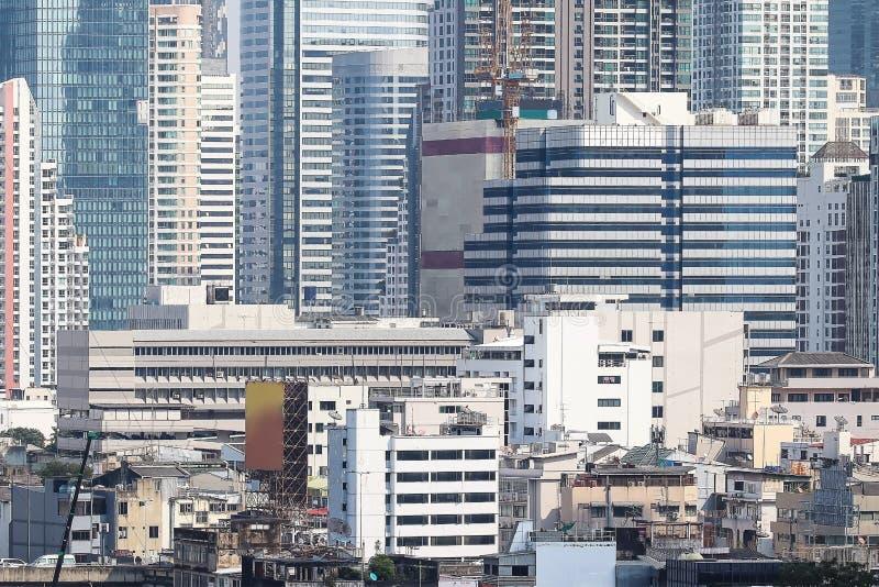 Fondo de los edificios de la metrópoli Tailandia de Bangkok fotografía de archivo libre de regalías