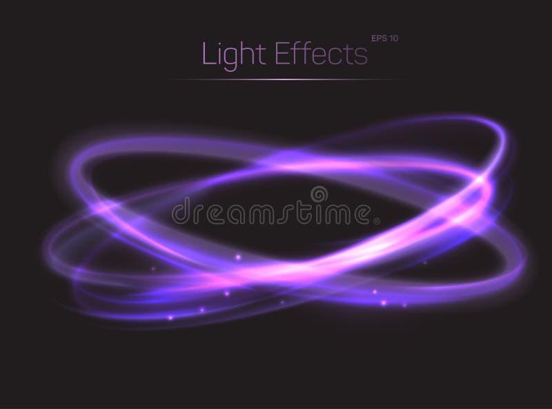 Fondo de los efectos luminosos del círculo o de los óvalos ilustración del vector