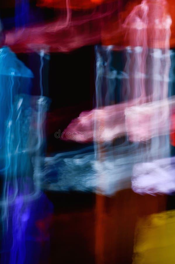 Fondo de los efectos luminosos, fondo ligero abstracto, escape ligero fotos de archivo