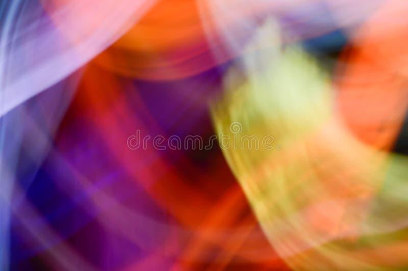 Fondo de los efectos luminosos, fondo ligero abstracto, escapes ligeros, foto de archivo