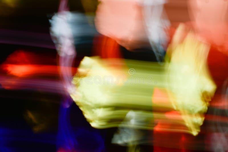 Fondo de los efectos luminosos, fondo ligero abstracto, escapes ligeros, imagen de archivo