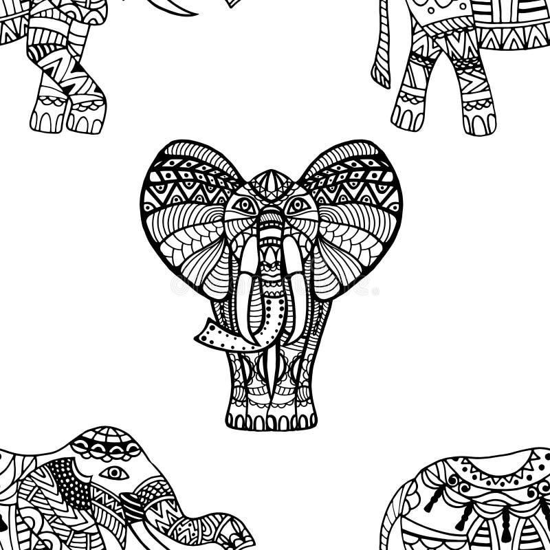 Fondo de los elefantes ilustración del vector