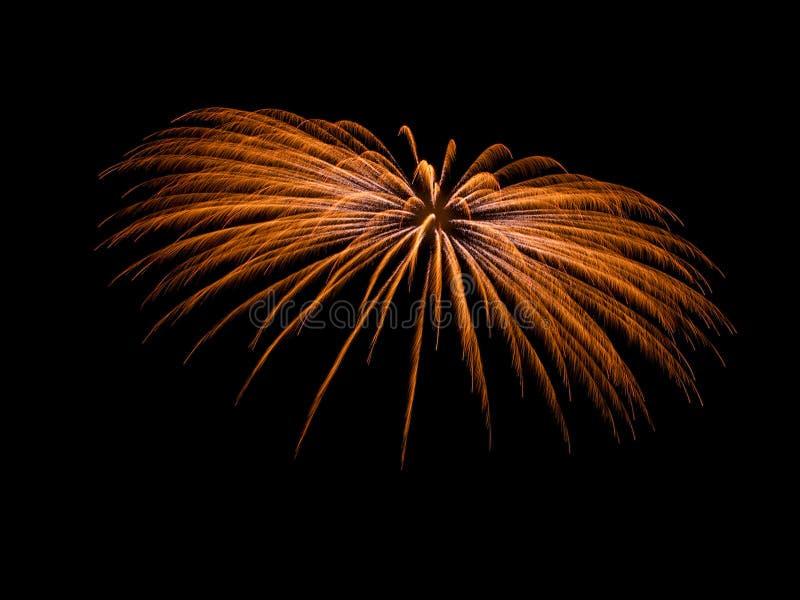 Fondo de los fuegos artificiales Fuegos artificiales aislados Fondo de los días de fiesta fotografía de archivo