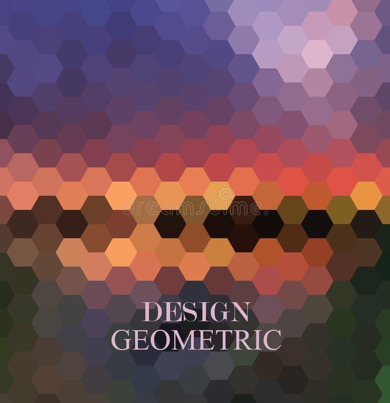 Fondo de los hex?gonos del vector Modelo geom?trico Vector abstracto con los peines hexagonales coloridos de la miel stock de ilustración