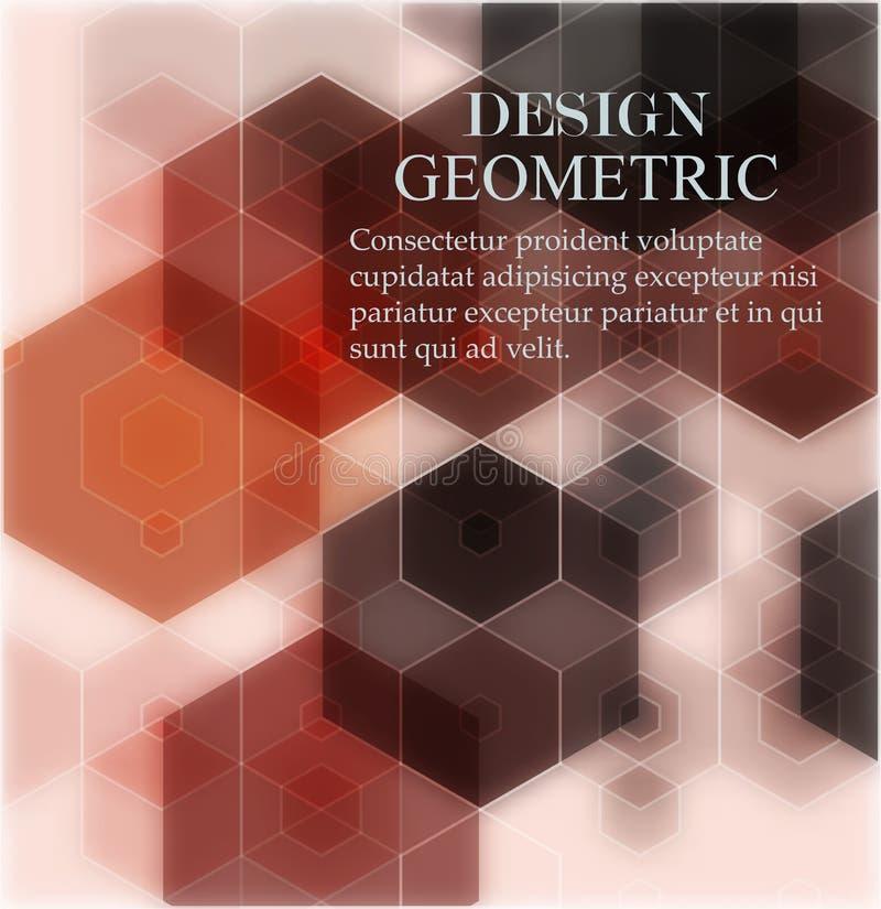 Fondo de los hex?gonos del vector Modelo geom?trico Vector abstracto con los peines hexagonales coloridos de la miel ilustración del vector