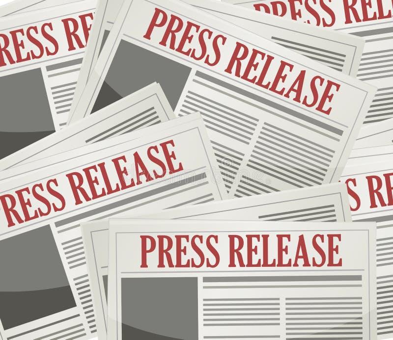 fondo de los hojas informativa de los comunicados de prensa stock de ilustración
