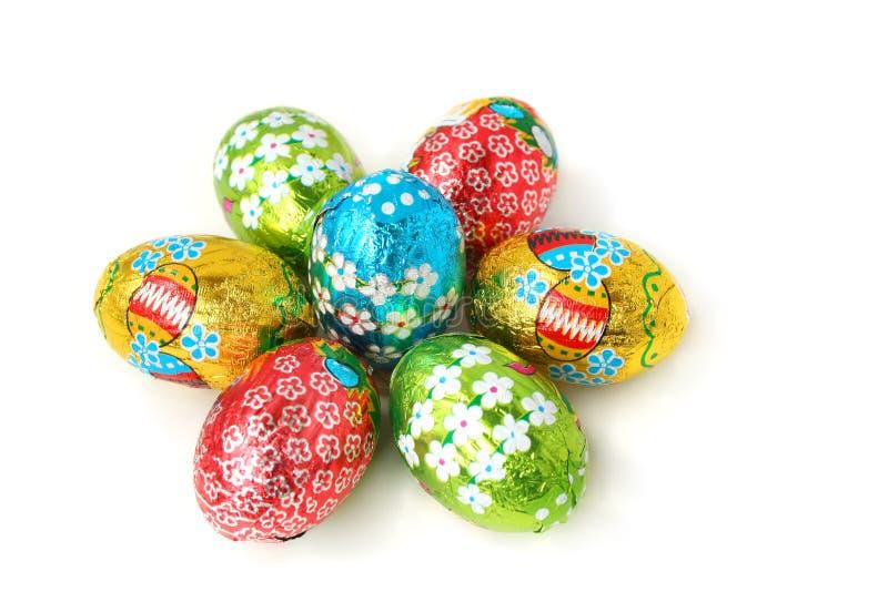 Fondo de los huevos de Pascua imagenes de archivo