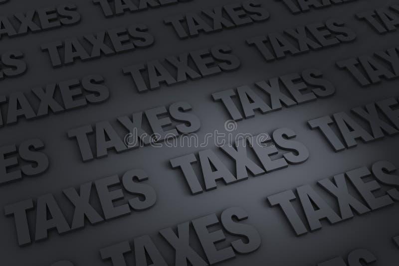 Fondo de los impuestos ilustración del vector