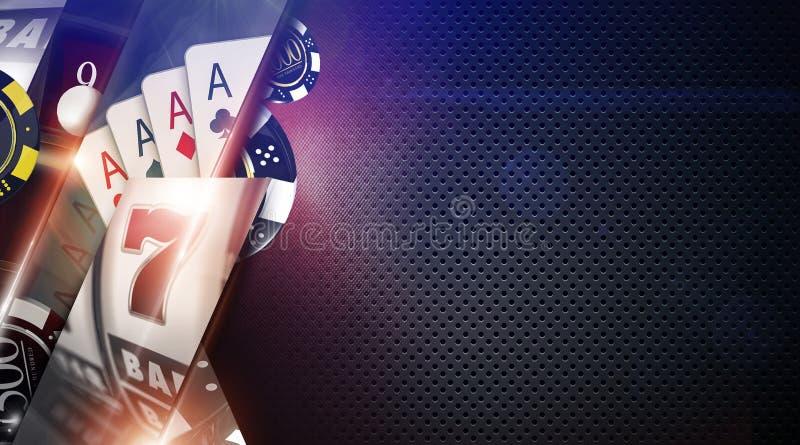 Fondo de los juegos del casino imagenes de archivo