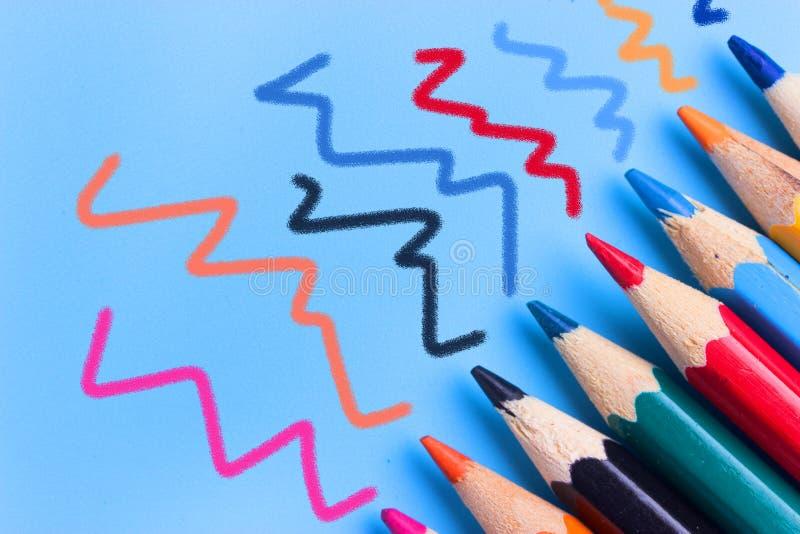 Fondo de los lápices del color foto de archivo