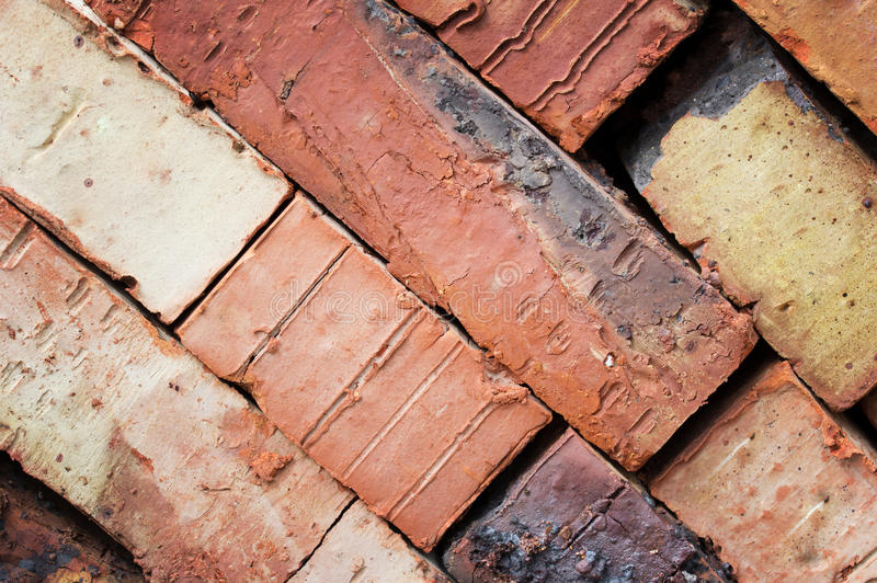 Fondo de los ladrillos rojos Papel pintado de Grunge imagenes de archivo