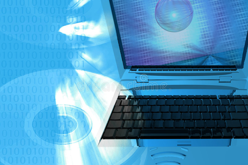 Fondo de los media del ordenador ilustración del vector