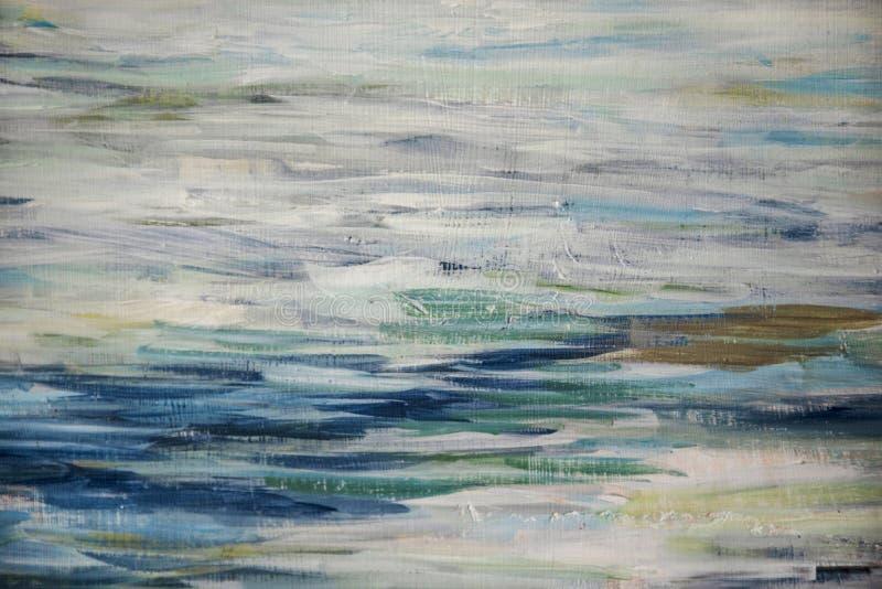 Fondo de los movimientos del cepillo con las pinturas de aceite foto de archivo