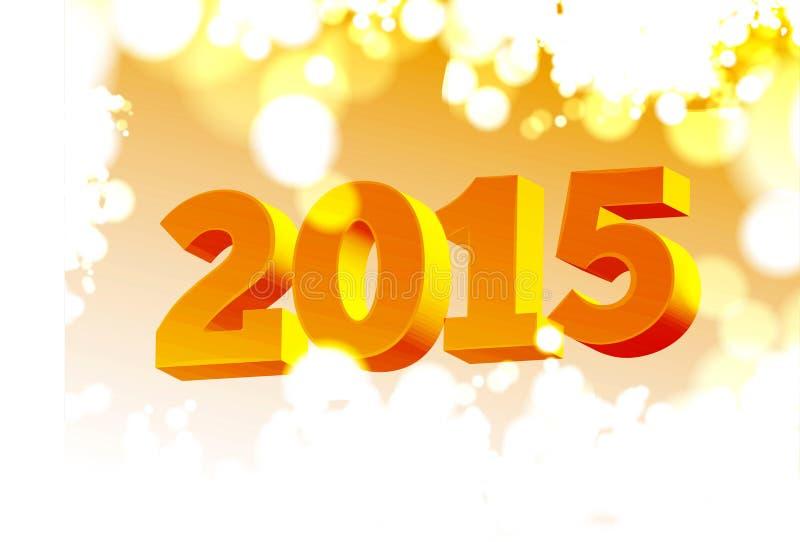 Fondo 2015 de los números stock de ilustración