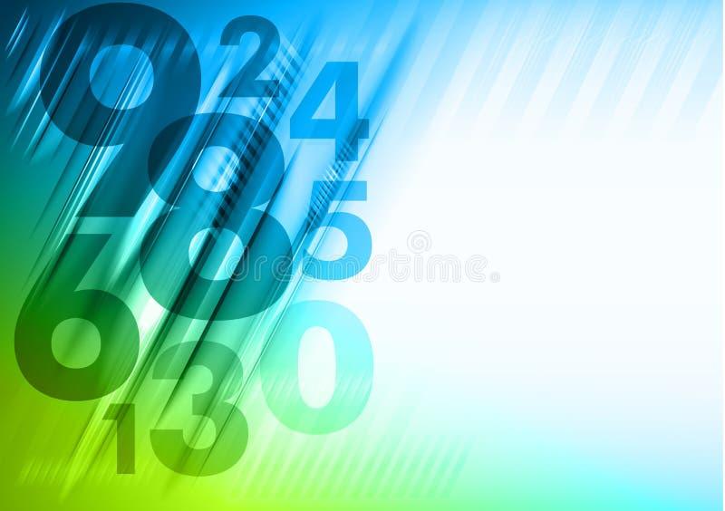 Fondo de los números abstractos libre illustration
