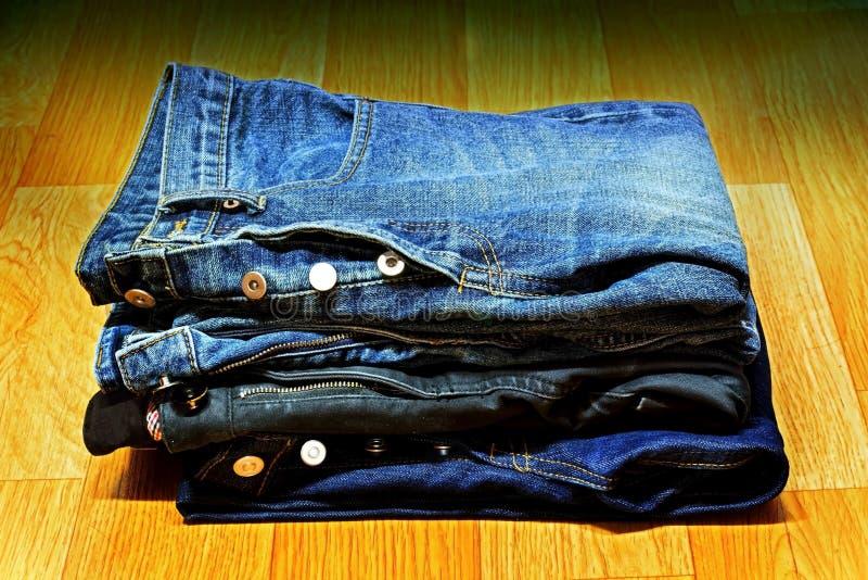 Fondo de los pantalones vaqueros fotografía de archivo