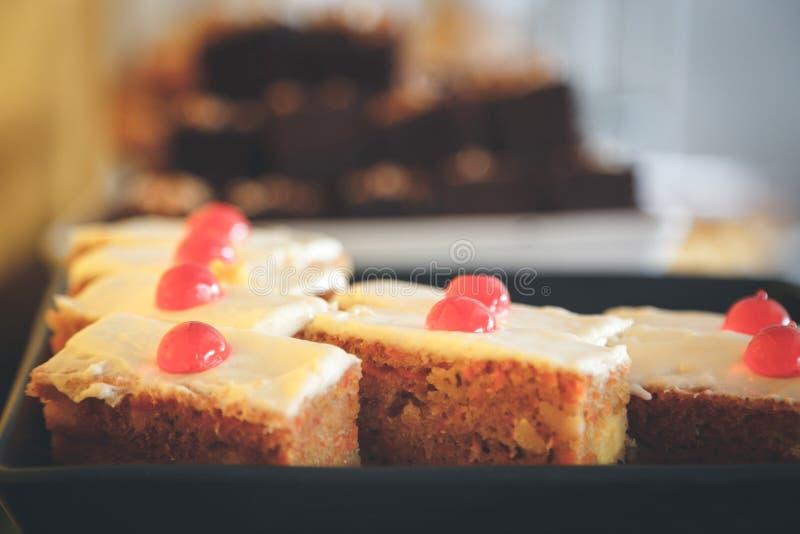 Fondo de los pasteles de los dulces imagenes de archivo