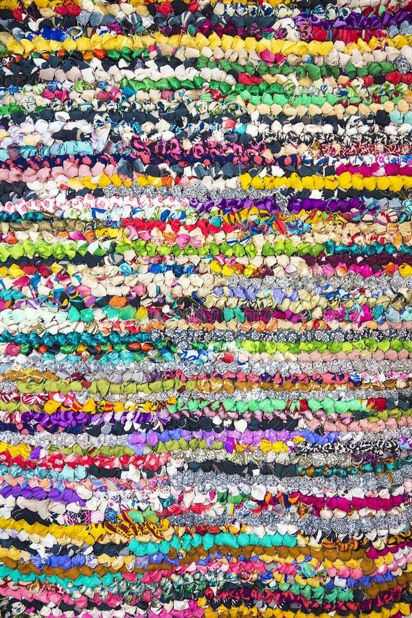 Fondo de los pedazos coloridos de la tela fotografía de archivo libre de regalías