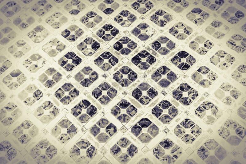 Fondo de los pedazos del primer del extracto del color hermoso de la textura y dise?o de cristal del arte foto de archivo